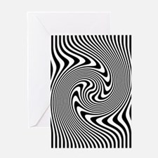 Black and White Op Art Design Greeting Cards