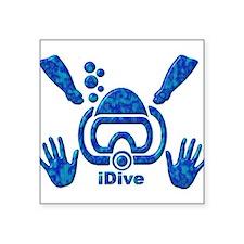 "Snorkeling Square Sticker 3"" x 3"""
