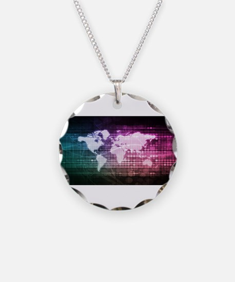 Global Network Connectio Necklace