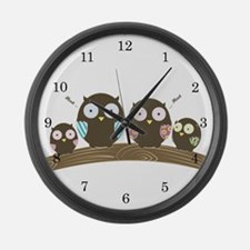 Hoot Large Wall Clock