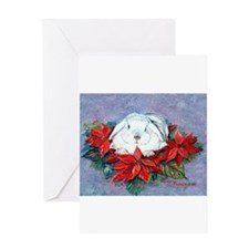 Funny Lop eared rabbit Greeting Card