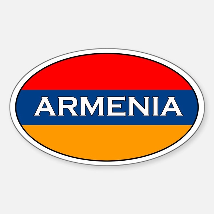 Armenian Decals Oval Decal