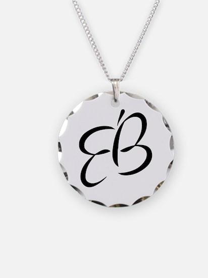 Eb Round Necklace Circle Charm
