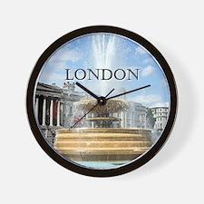 Fountain, Trafalgar Square, London (cap Wall Clock