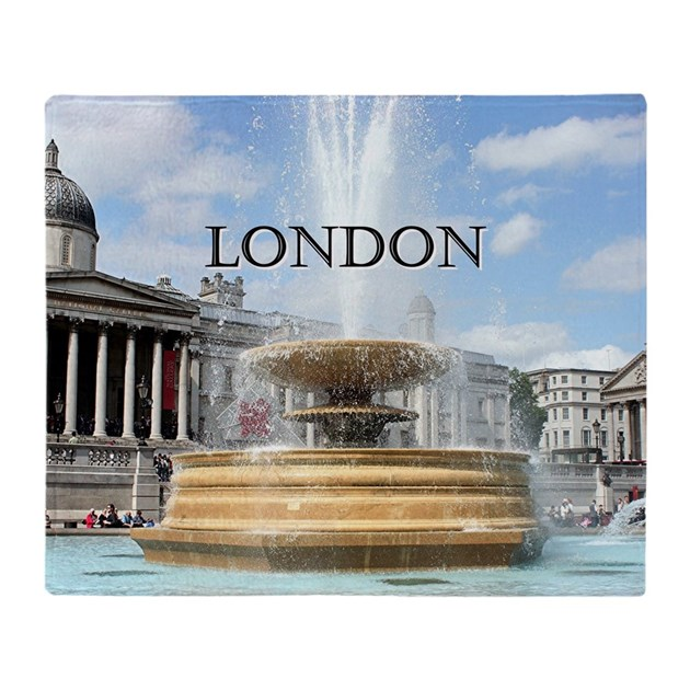 Fountain, Trafalgar Square, London ( Throw Blanket By