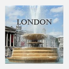 Fountain, Trafalgar Square, London (c Tile Coaster