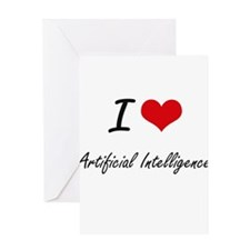 I Love Artificial Intelligence Arti Greeting Cards