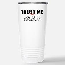 Graphic Designer Stainless Steel Travel Mug