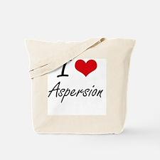I Love Aspersion Artistic Design Tote Bag