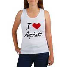 I Love Asphalt Artistic Design Tank Top