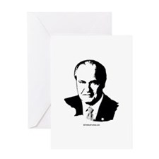Fred Thompson Face Greeting Card