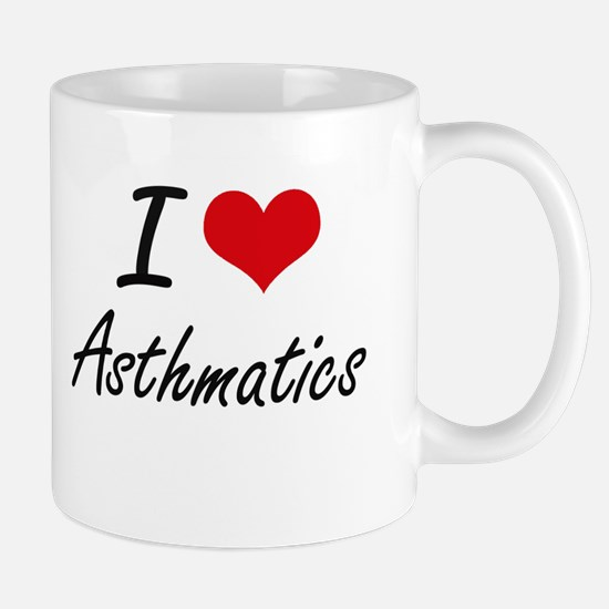 I Love Asthmatics Artistic Design Mugs