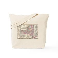 Vintage Map of New York (1864) Tote Bag