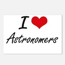 I Love Astronomers Artist Postcards (Package of 8)