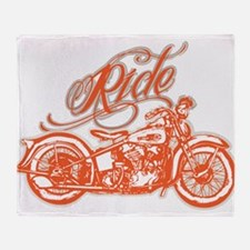RIDE THE KNUCKLE Throw Blanket