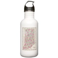 Vintage Map of Indiana Water Bottle