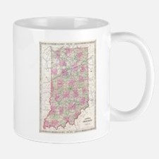 Vintage Map of Indiana (1864) Mugs