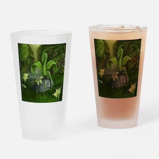 Lilly flower leaf dragon Drinking Glass
