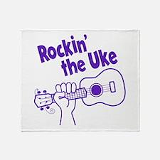 ROCKIN' THE UKE Throw Blanket