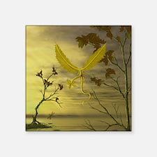 """Flying Leaf Dragon Square Sticker 3"""" x 3"""""""