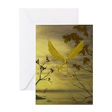 Flying Leaf Dragon Greeting Card
