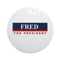 Fred Thompson for President Ornament (Round)