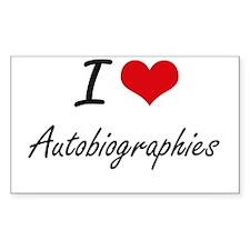 I Love Autobiographies Artistic Design Decal