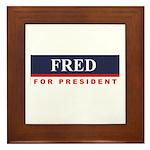 Fred Thompson for President Framed Tile