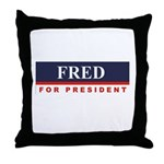 Fred Thompson for President Throw Pillow