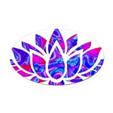 Yoga Oval Car Magnets