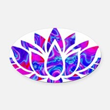 Lotus flower Oval Car Magnet