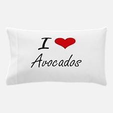 I Love Avocados Artistic Design Pillow Case