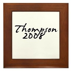 Fred Thompson 2008 Framed Tile