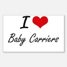I Love Baby Carriers Artistic Design Decal