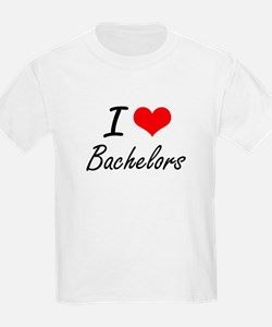 I Love Bachelors Artistic Design T-Shirt