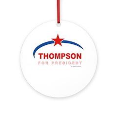 Thompson for President Ornament (Round)