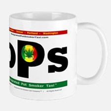 Designated Pot Smoker Taxi Logo Mugs