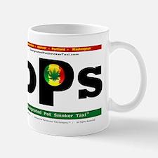 Designated Pot Smoker Taxi Logo Mugs