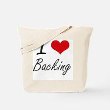 I Love Backing Artistic Design Tote Bag