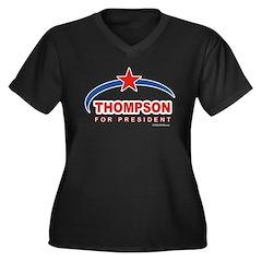 Thompson for President Women's Plus Size V-Neck Da