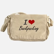 I Love Backpacking Artistic Design Messenger Bag