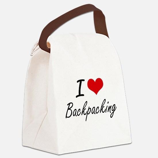I Love Backpacking Artistic Desig Canvas Lunch Bag
