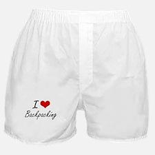 I Love Backpacking Artistic Design Boxer Shorts