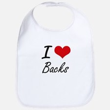 I Love Backs Artistic Design Bib