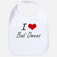 I Love Bad Omens Artistic Design Bib