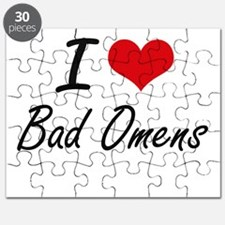 I Love Bad Omens Artistic Design Puzzle