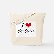 I Love Bad Omens Artistic Design Tote Bag