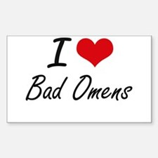 I Love Bad Omens Artistic Design Decal