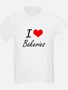 I Love Bakeries Artistic Design T-Shirt