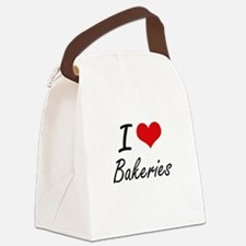 I Love Bakeries Artistic Design Canvas Lunch Bag